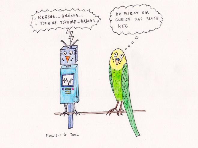 Wellensittiche, Robotics, Roboter