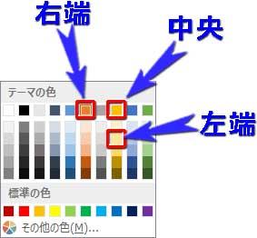 炎のグラデーションの分岐点の色