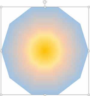 太陽光線のパス・グラデーションを適用した画像