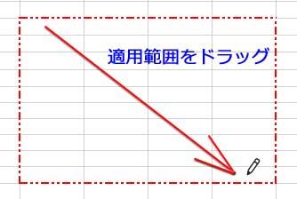 外枠の罫線の描画
