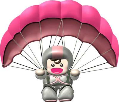 アニメーションを設定するハンググライダーの画像