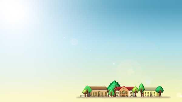 家並みテンプレートの背景画像