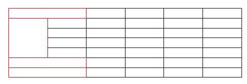 結合するべきセルが全て結合された表