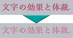 元の文字の効果との比較
