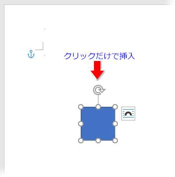 ファイル上をクリックで図形を挿入