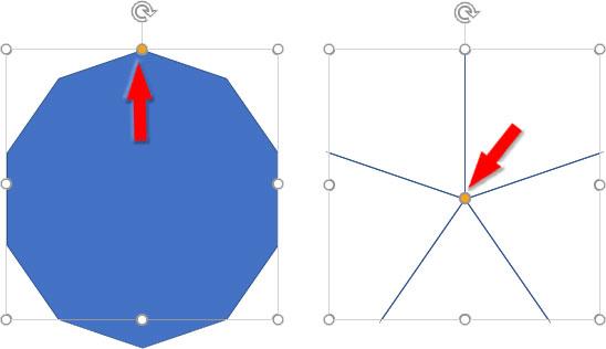 極限まで変形させた星型図形