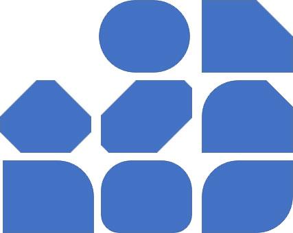 調整ハンドルによる四角形の変形例