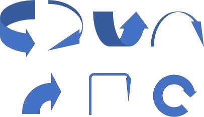 円弧矢印の変形例