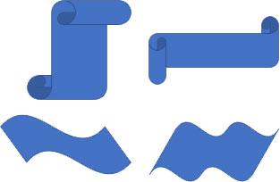 「スクロール」「波型」の変形例