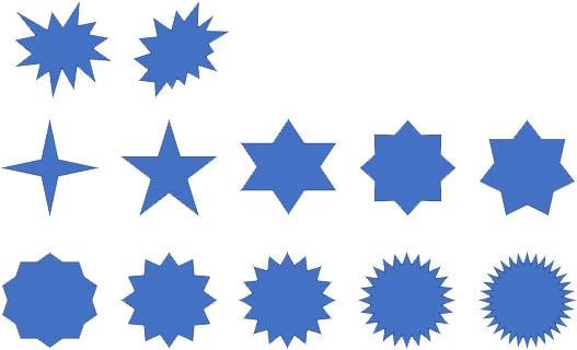 「爆発」と「星型」の描画
