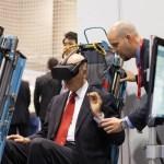 Show-floor---testing-the-flight-simulator