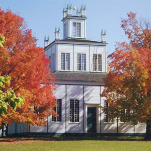 Sharon Temple is a striking architectural centrepiece amid four acres of historic property