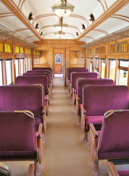 The No. 8 car from Halton County Radial Railway's vintage collection