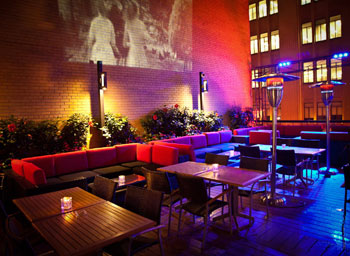 Screen Lounge offers a unique rooftop ambience