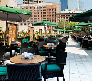 Financial District's South of Temperance patio is a meeting-spot magnet
