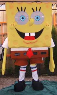 SpongeBob is part of Lydia Mason Designs' very large mascot family