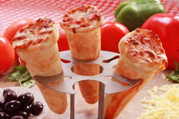 The Mad Italian bakes pizza into fun, easy-to-eat cones