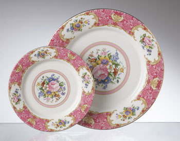 Think vintage dishware. Photo courtesy of Chair-man Mills