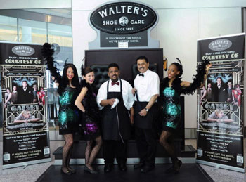 Brand Walter's Shoe Shine Parlour's mobile event stands