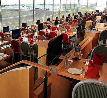 Woodbine's Favourites Dining Room is race-viewing perfect
