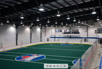 Play the event field at Toronto Rock Athletic Centre