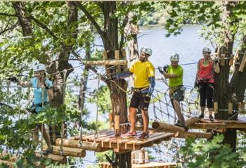 Treetop Trekking's challenge at Heart Lake Conservation Area