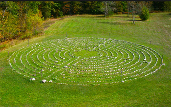Walk the labyrinth at the Ecology Retreat Centre, just outside of Toronto