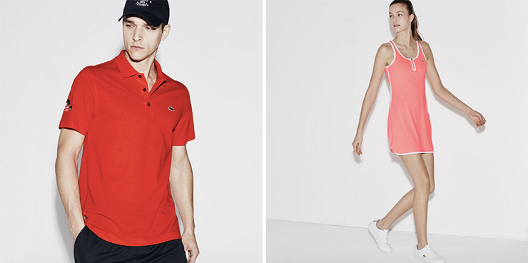 SLEEVELESS CONTRAST ZIP TECHNICAL TENNIS DRESS & MIAMI OPEN MEN'S SUPER LIGHT POLO