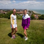 Caroline Wozniacki and Eugenie Bouchard at Eastbourne