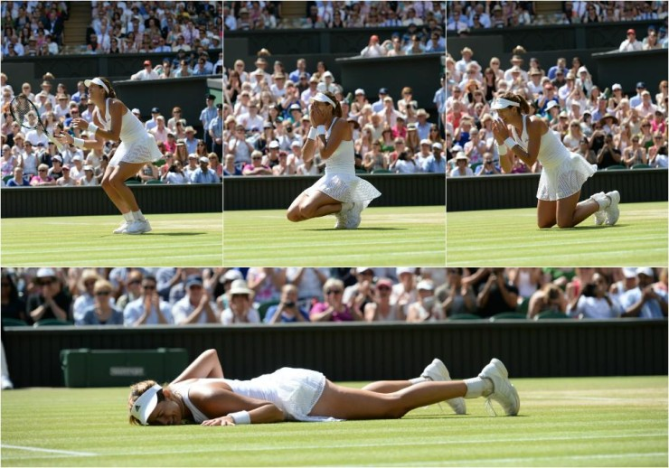 Garbine Muguruza realizes she reached the Wimbledon  2015 finals
