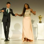 Novak Djokovic and Serena Williams celebrate their Wimbledon 2015 win