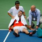 Jack Sock was forced to retire at the US Open