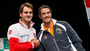 Roger Federer and Jesse Huta Galung