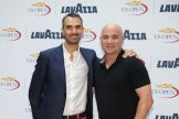 NEW YORK, NY - AUGUST 30: (L TO R) Marco Lavazza and Andre Agassi at NOMO Kitchen on August 30, 2016 in New York City. (Photo by Ed Mulholland/Getty Images for Lavazza)