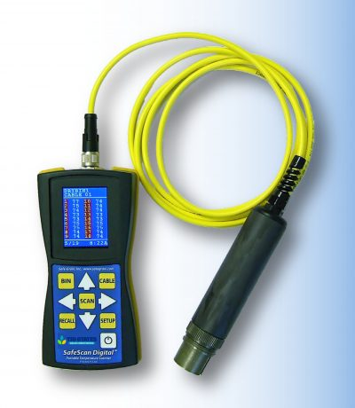 SafeScan - handheld portable device for monitoring grain temperatures