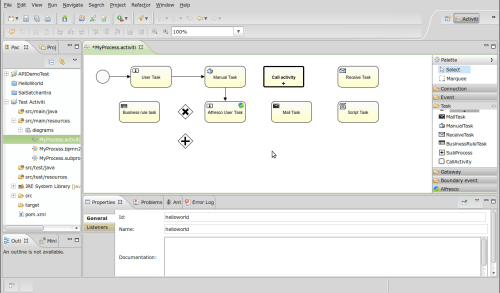 Screenshot-Activiti - MyProcess.activiti (BPMNdiagram) - Eclipse SDK