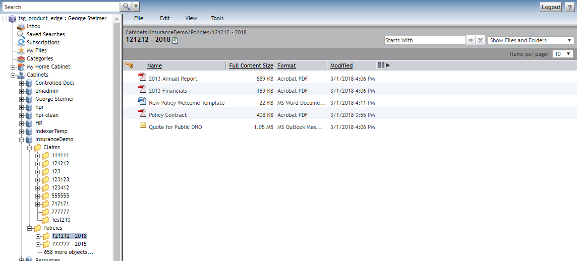 Documentum – Webtop and OpenContent Folder Comparison