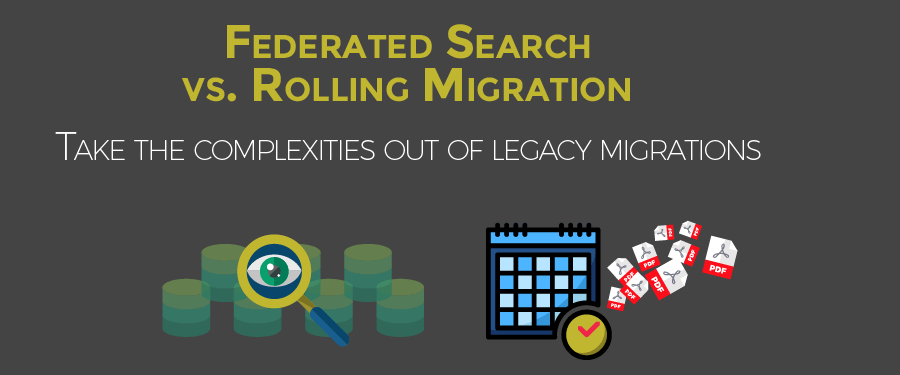 Federated Search vs Rolling Migration