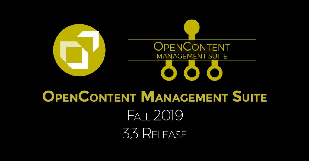 OCMS Fall Release 2019 v3.3
