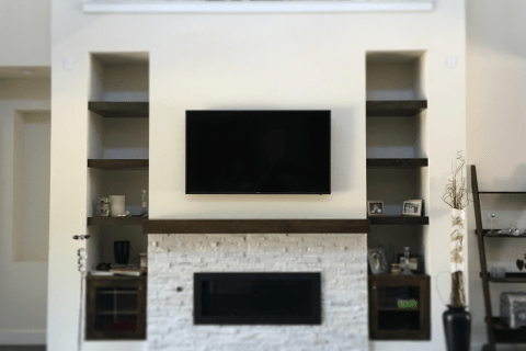 Stylish TV Install – River Rock Ranch