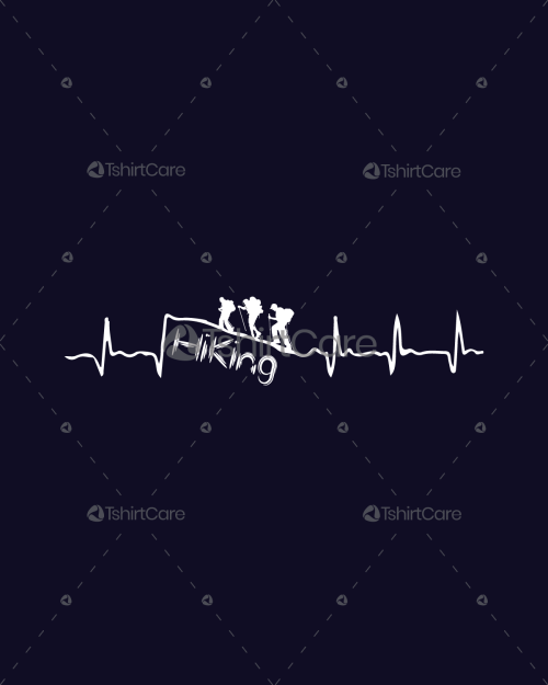 9a5f58b50ec Mountain hike people Heartbeat T shirt design Hiking Time Great Gift for  any hike lover