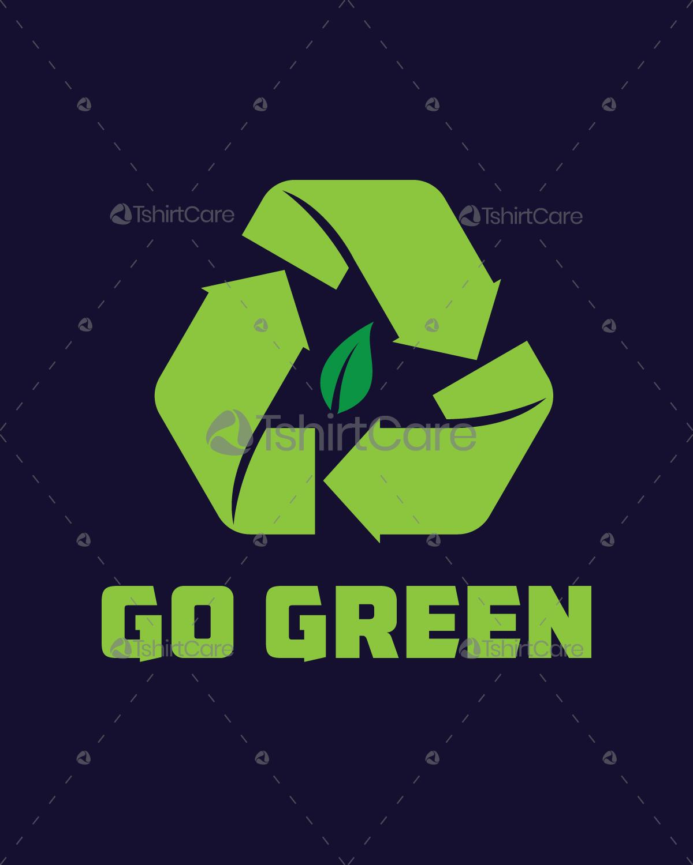 Go Green T Shirt Designs | Go Green Environment Graphics T Shirt Design Save Earth Tee Design