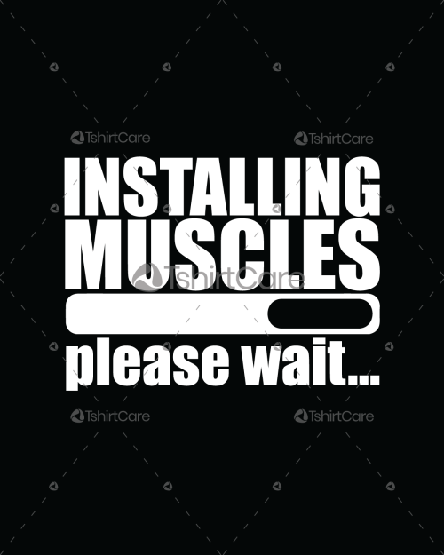 8da8fb751 Installing Muscles, Please wait T-Shirt Design Bodybuilding Fitness T shirt  for Gym boys & girls Tee & Hoodies