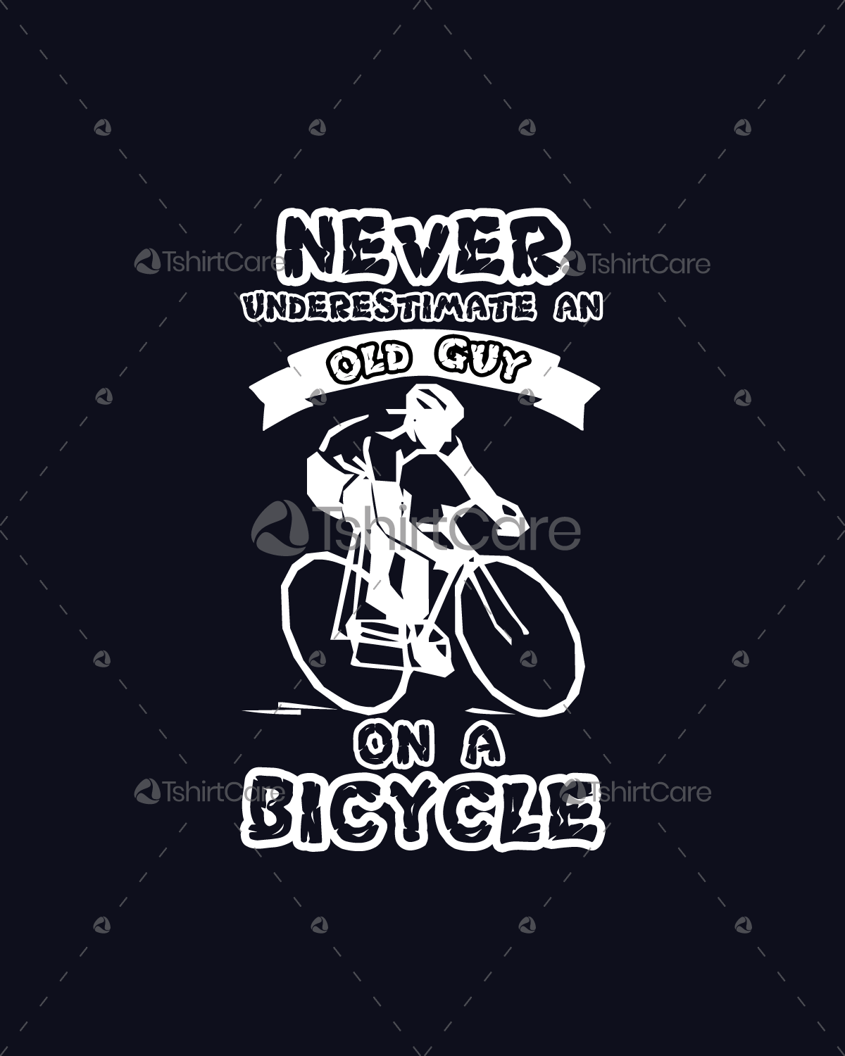 Cycle Shirt Design   Never Underestimate An Old Guy On A Bicycle T Shirt Design For