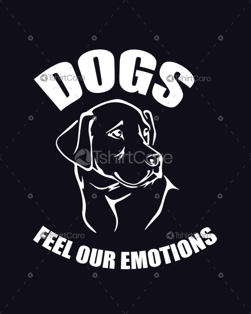 89d1d212b Dog feel our emotions T shirt Design Pet Lovers Shirts Design for Boys &  Girls Tee Shirt