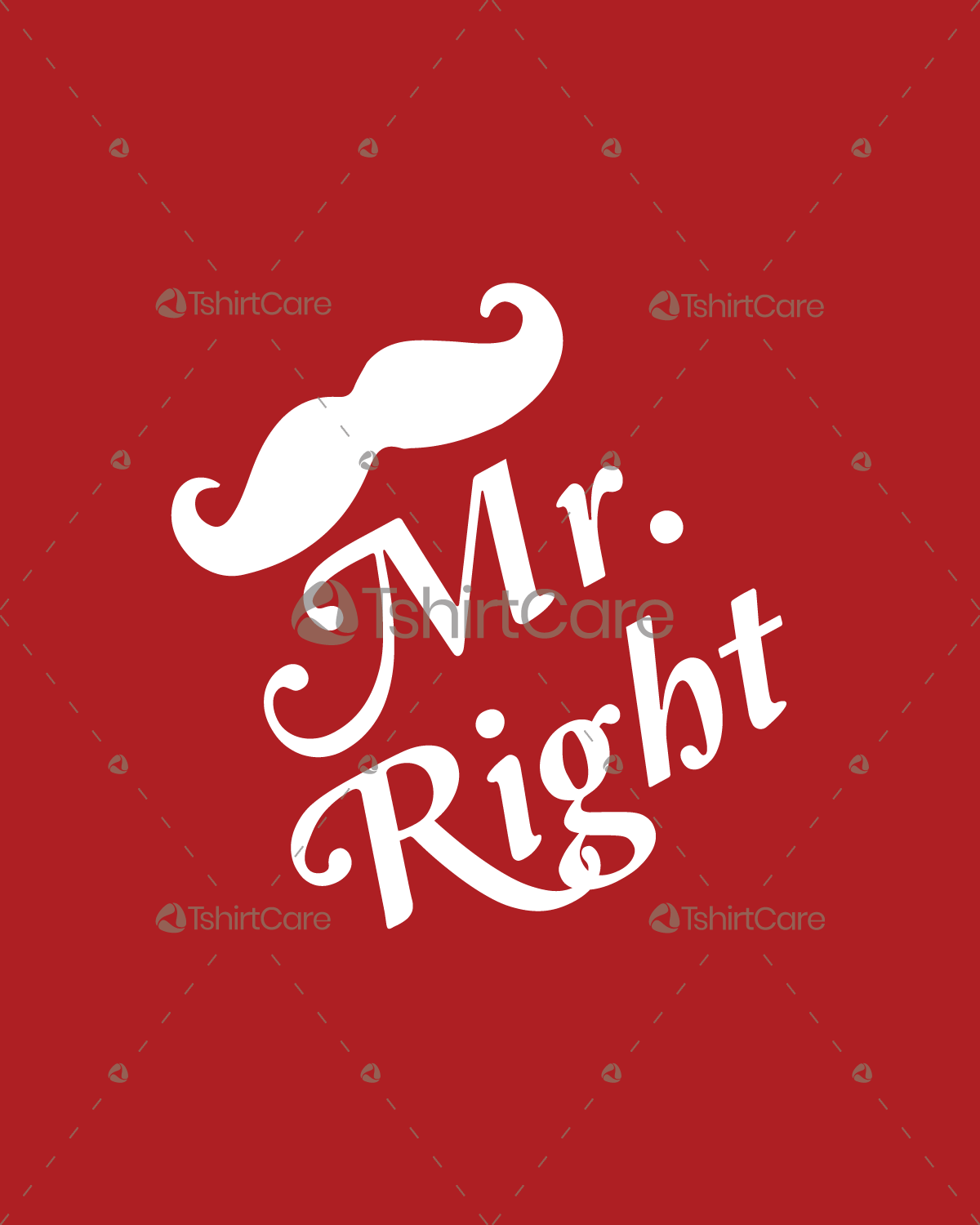 Mr Right T Shirt Design Valentine S Day Lover Couple Tee Shirts