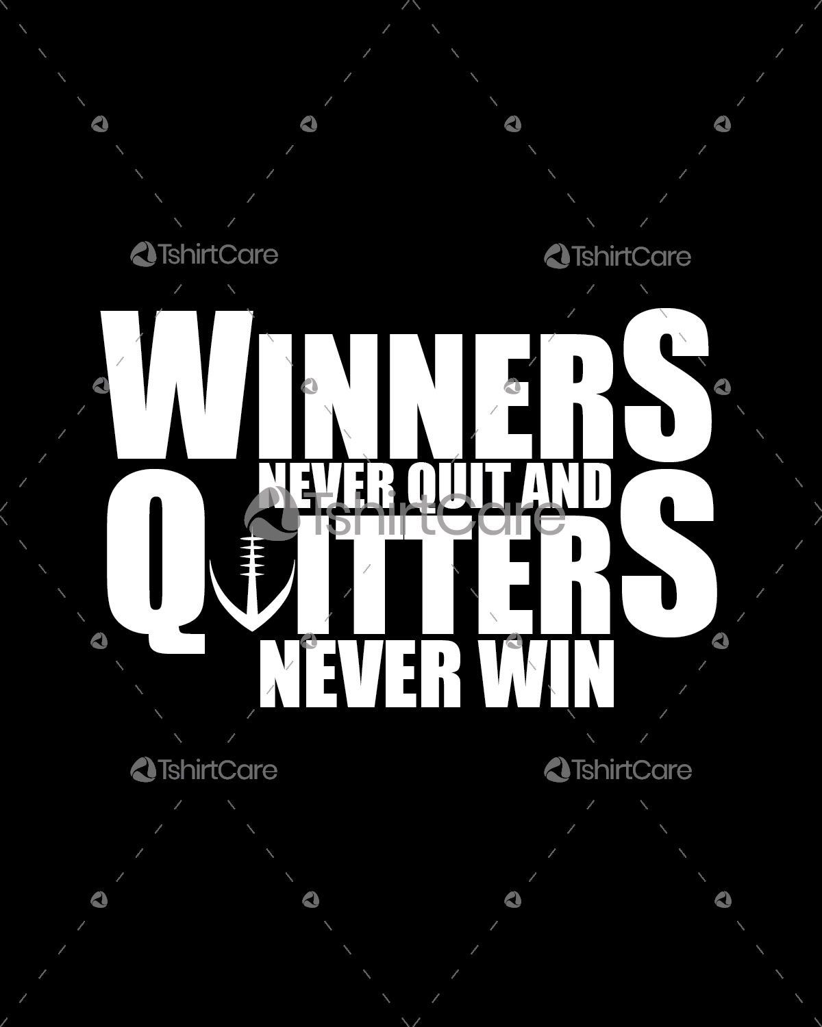 Winner never quit and quitters never win T shirt Design ...