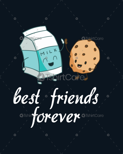 badbf8ba Milk and cookies friendship T shirt Design Best Friends Tee Shirts for Men  & Women