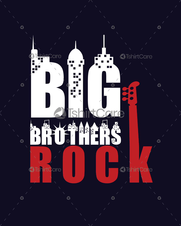 Big Brother Rock T Shirt Design Brothers Matching Shirts Tank Tops