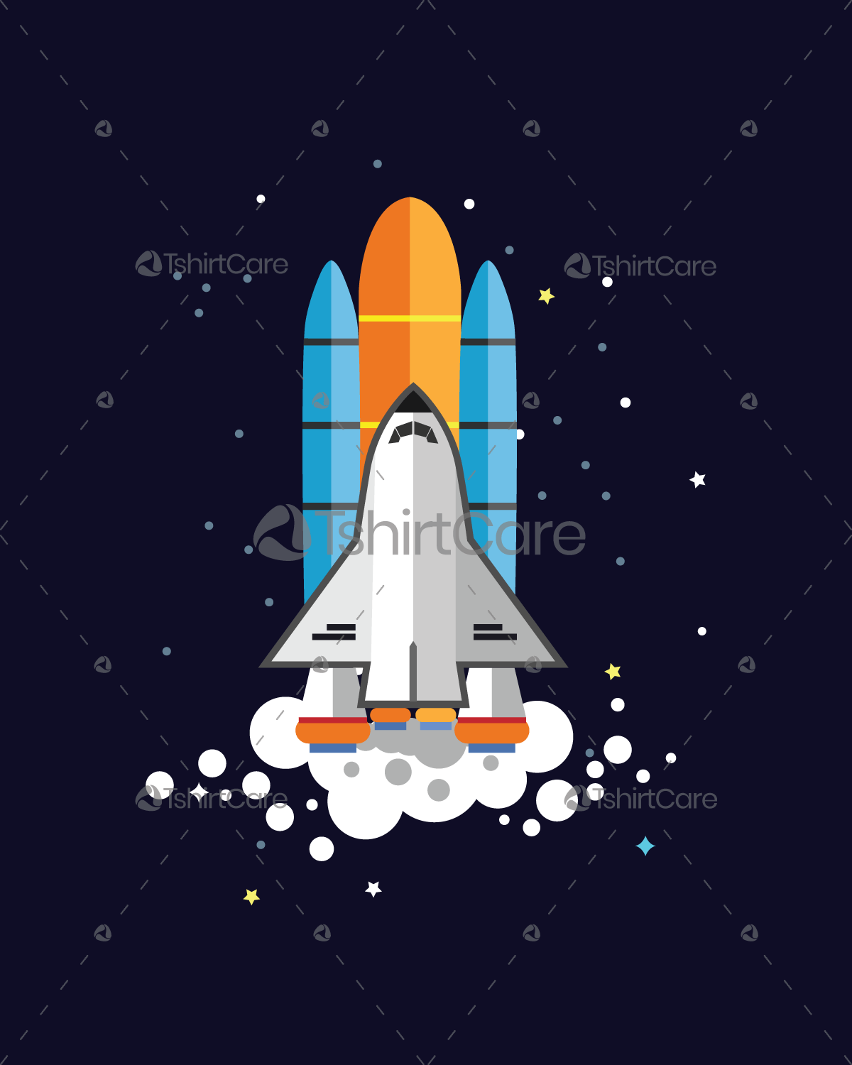 6e59c3a48 Space Rocket Launch T Shirt Design Graphic Tee Shirt For Science